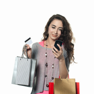 Woman-Shopping-mobile-phone
