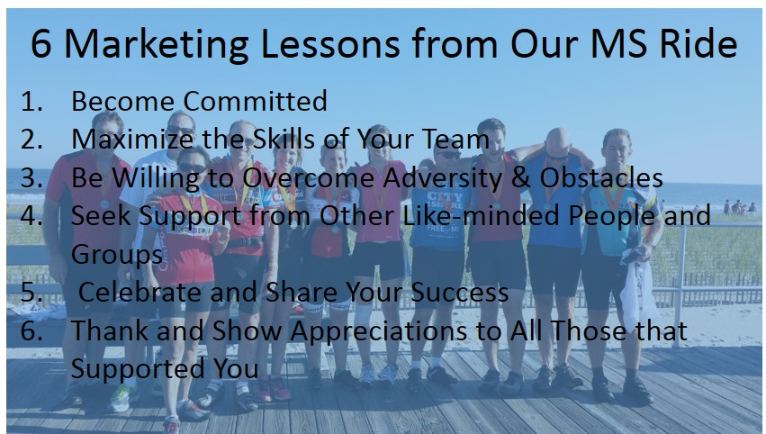 Image with Text 6 Marketing Lessons from MS ride