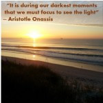 Aristotle Inspirational Quote Sunrise at Topsail